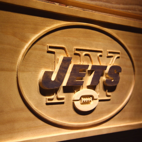 New York Jets 3D Wooden Sign