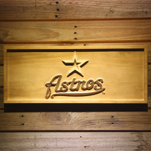 Houston Astros 3D Wooden Sign