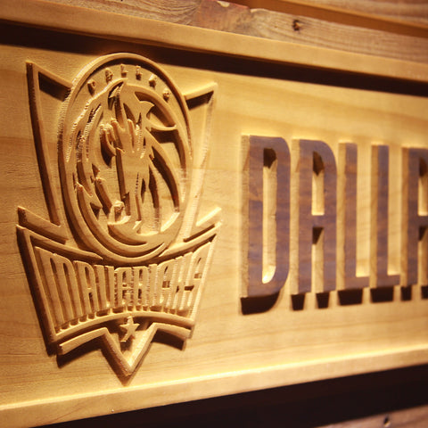 Dallas Mavericks 3D Wooden Sign