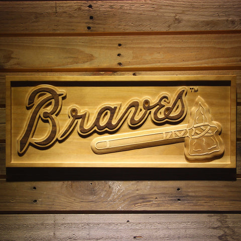 Atlanta Braves 3D Wooden Sign