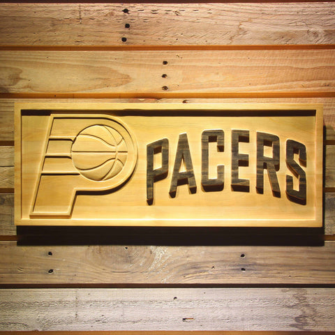 Indiana Pacers 3D Wooden Sign