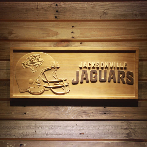 Jacksonville Jaguars 3D Wooden Bar Sign
