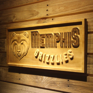 Memphis Grizzlies 3D Wooden Sign