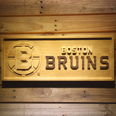 Boston Bruins 3D Wooden Sign
