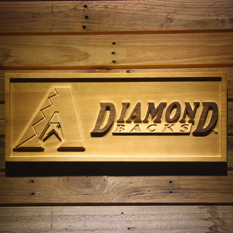 Arizona Diamondbacks 3D Wooden Sign