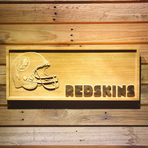 Washington Redskins Helmet 3D Wooden Bar Sign