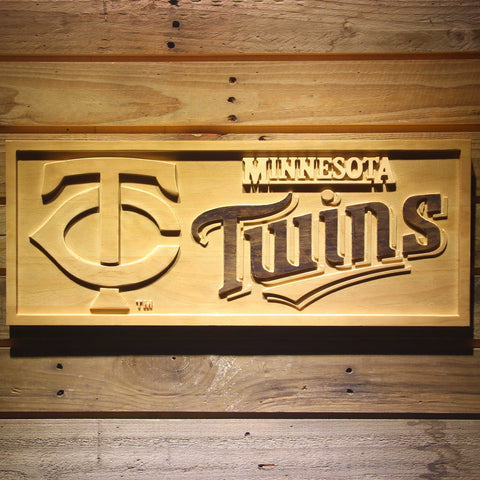 Minnesota Twins 3D Wooden Sign