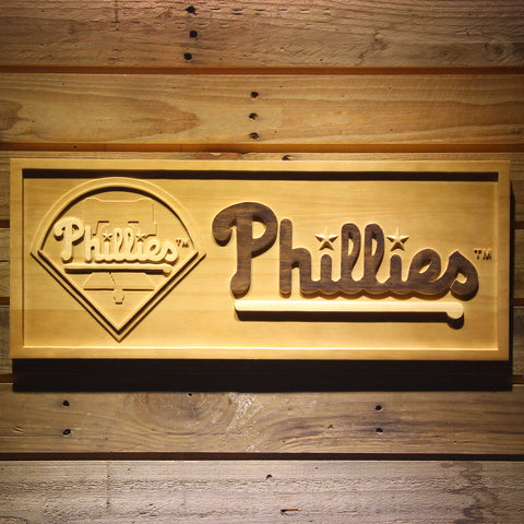 Philadelphia Phillies 3D Wooden Sign