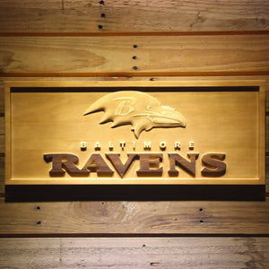 Baltimore Ravens Football 3D Wooden Sign