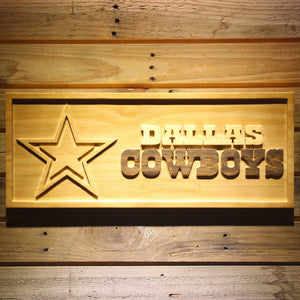 Dallas Cowboys 3D Wooden Sign