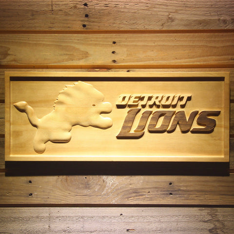 Detroit Lions 3D Wooden Sign