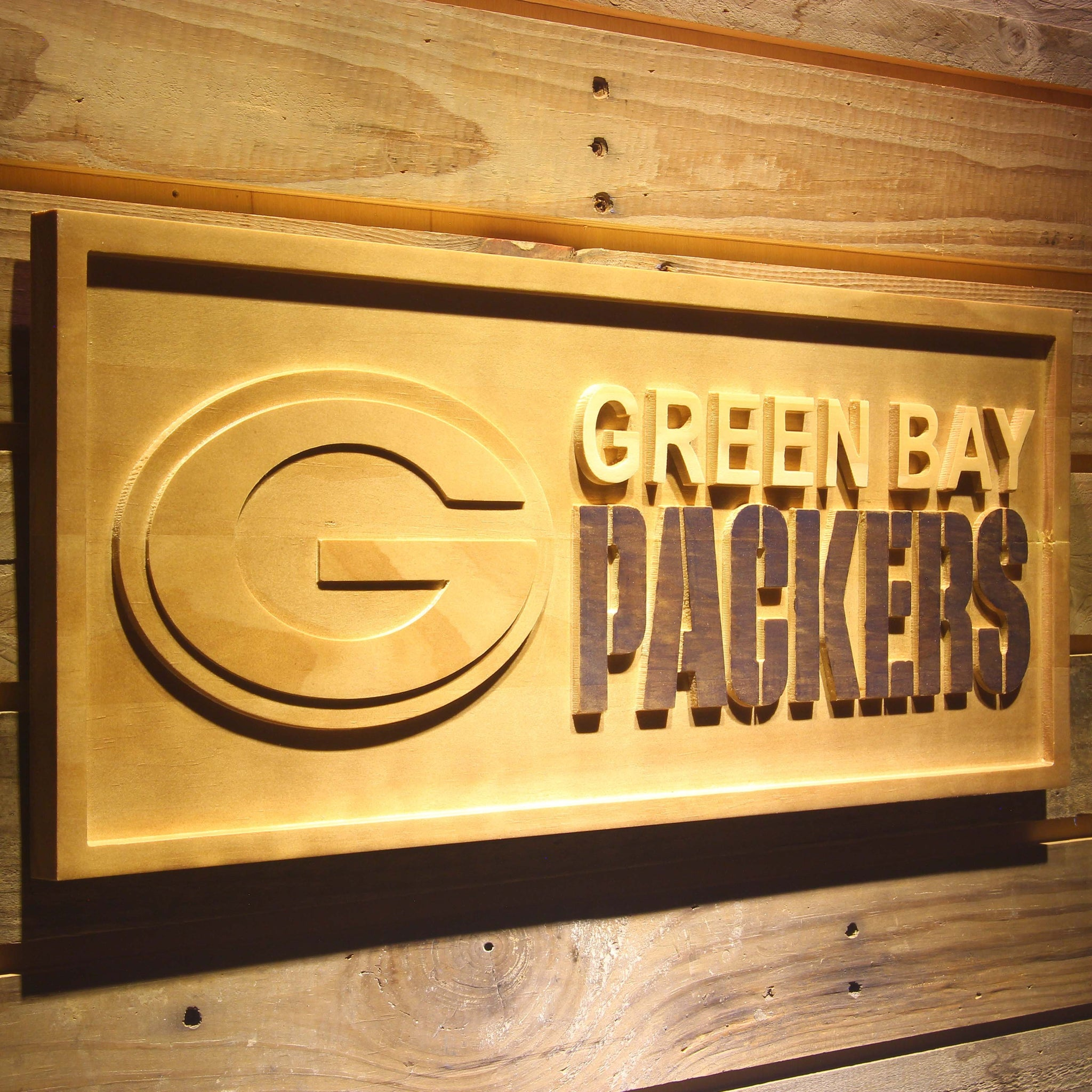 Green Bay Packers 3D Wooden Sign