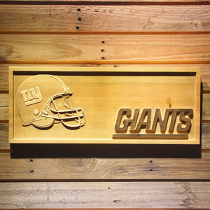 New York Giants Helmet 3D Wooden Bar Sign