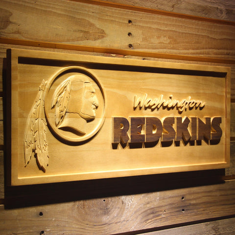 Washington Redskins 3D Wooden Sign