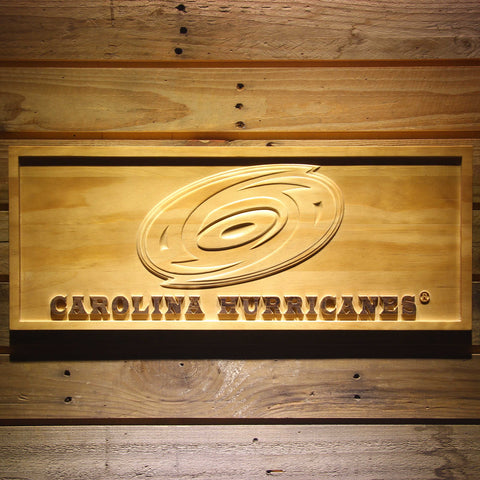 Carolina Hurricanes 3D Wooden Sign