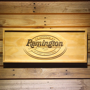 Remington 3D Wooden Bar Sign