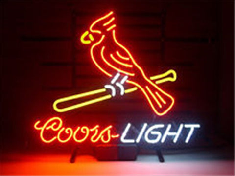 NEON SIGN For COORS LIGHT CARDINALS SIGN Signboard REAL GLASS BEER BAR PUB  display   christmas Light Signs 17*14""