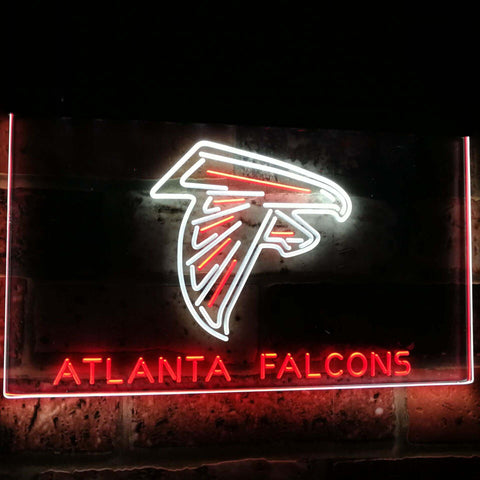 Atlanta Falcons Football Bar Decoration Gift Dual Color Led Neon Sign st6-b2031