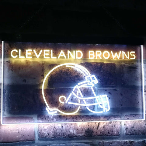 Cleveland Browns Football Bar Decoration Gift Dual Color Led Neon Sign st6-b2038