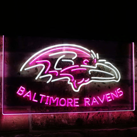 Baltimore Ravens Football Bar Decoration Gift Dual Color Led Neon Sign st6-b2033