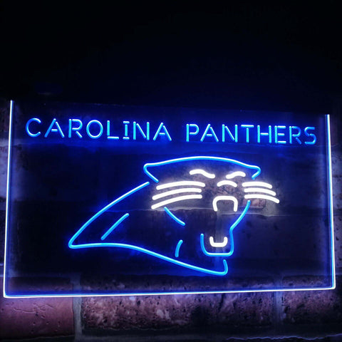 Carolina Panthers Football Bar Decor Dual Color Led Neon Sign st6-b2035