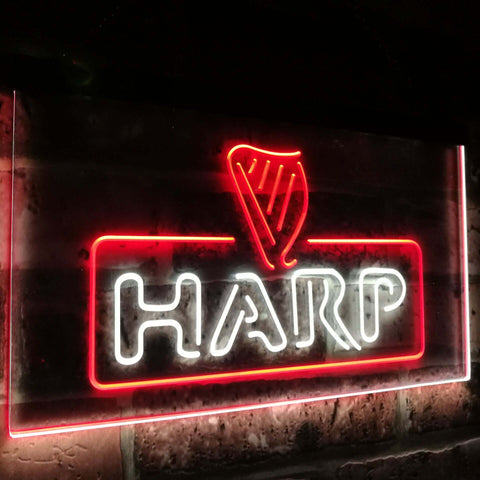 Harp Beer Bar Decoration Gift Dual Color Led Neon Sign st6-a2001