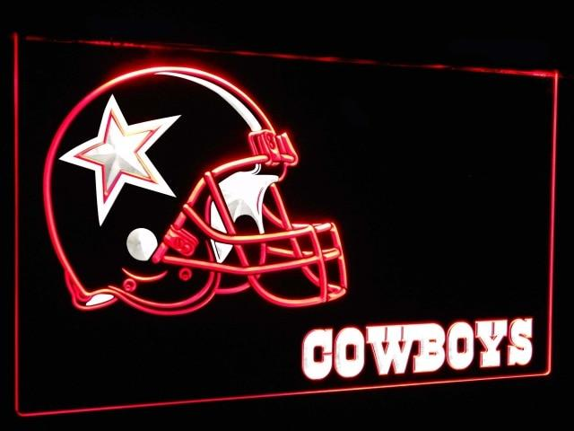 Dallas Cowboys Football Bar Decoration Gift Dual Color Led Neon Sign st6-b0317
