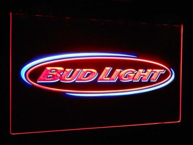 Bud Light Beer Bar Decoration Gift Dual Color Led Neon Sign st6-0001