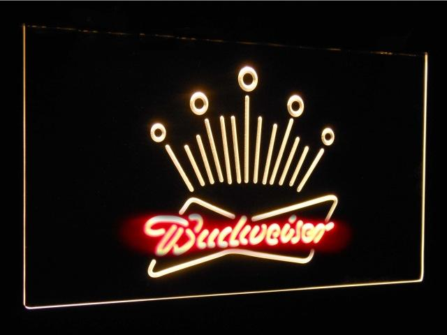 Budweiser Eagle Beer Club Bar Decoration Gift Dual Color Led Neon Sign st6-a2007