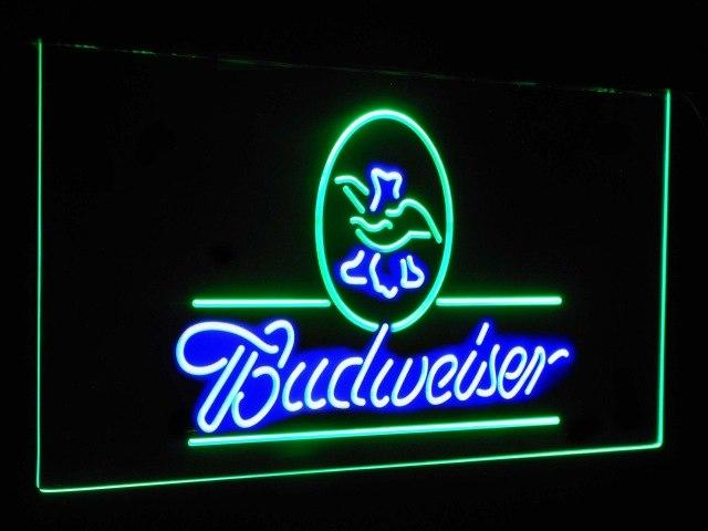 Budweiser Eagle US Beer Company Bar Decor Dual Color Led Neon Sign st6-a2008
