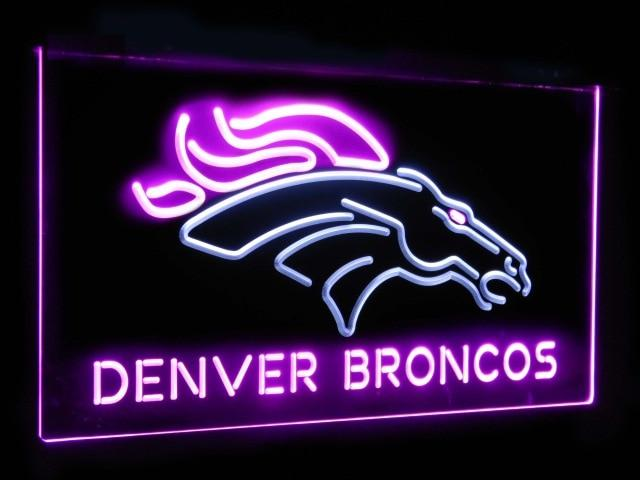 Denver Broncos Football Bar Decoration Gift Dual Color Led Neon Sign st6-b2040