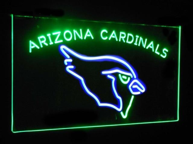 Arizona Cardinals Football Bar Decor Dual Color Led Neon Sign st6-b2032
