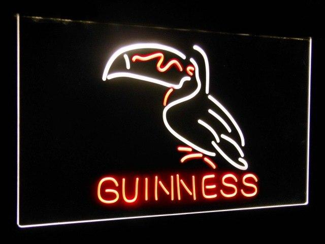 Guinness Toucan Stout Draught Beer Bar Decor Dual Color Led Neon Sign st6-a2120