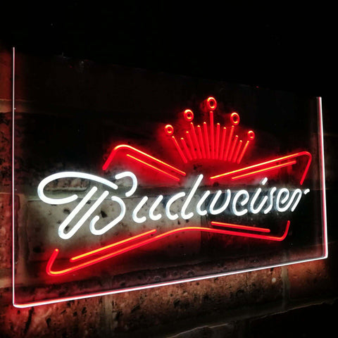 Budweiser King Beer Bar Decoration Gift Dual Color Led Neon Sign st6-a2005