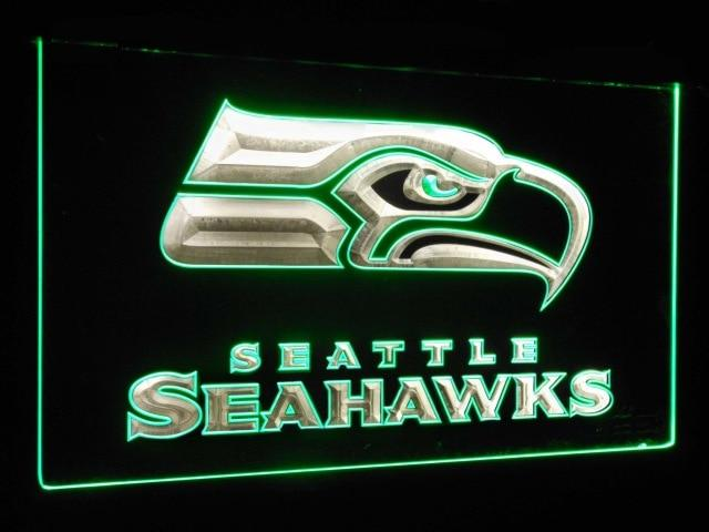 Seattle Seahawks Football Bar Decoration Gift Dual Color Led Neon Sign st6-b0242