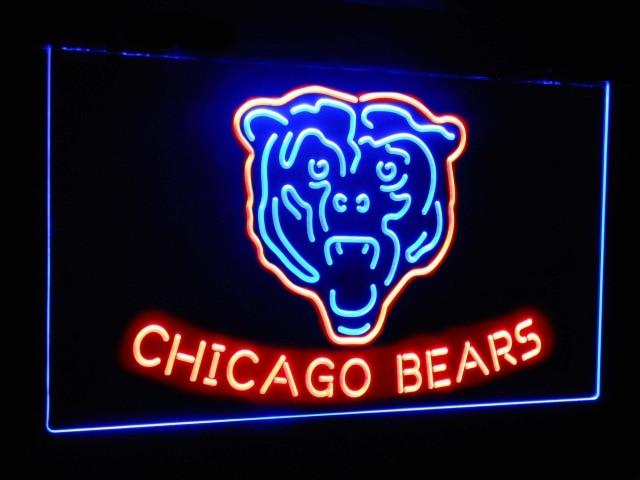 Chicago Bears Football Bar Decoration Gift Dual Color Led Neon Sign st6-b2036