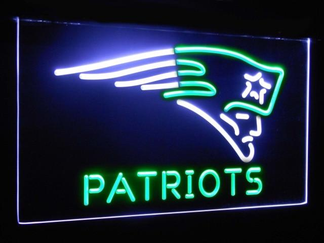 New England Patriots Football Bar Decor Dual Color Led Neon Sign st6-b2049