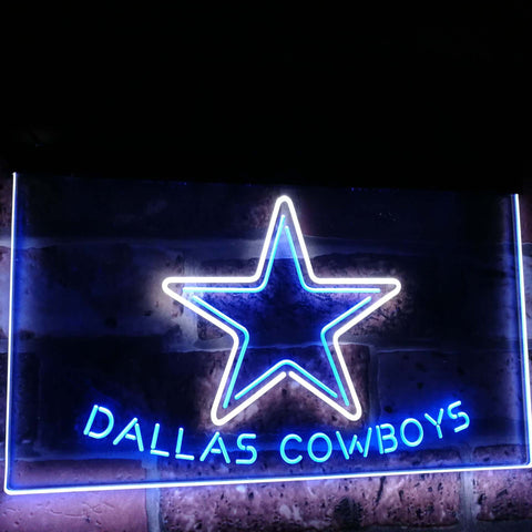 Dallas Cowboys Star Football Bar Decor Dual Color Led Neon Sign st6-b2039