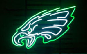 Business Custom NEON SIGN board For Football LED Philadelphia Eagles REAL GLASS Tube BEER BAR PUB Club Shop Light Signs 14*10""