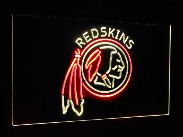 Washington Redskins Football Bar Decor Dual Color Led Neon Sign st6-b2062