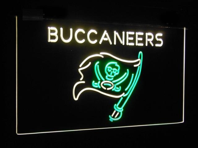 Tampa Bay Buccaneers Football Bar Decor Dual Color Led Neon Sign st6-b2060