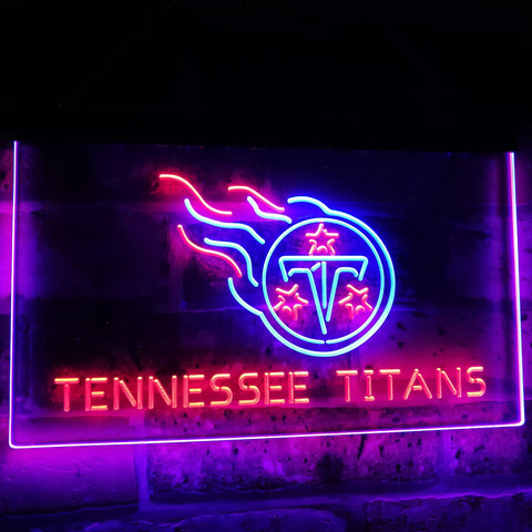 Tennessee Titans Football Bar Decoration Gift Dual Color Led Neon Sign st6-b2061