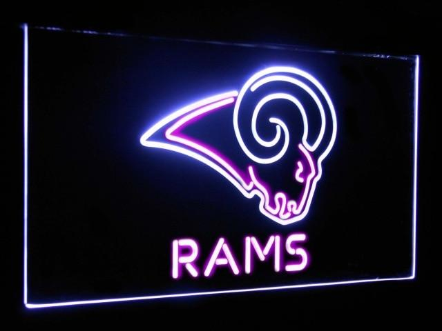 Los Angeles Rams Football Bar Decoration Gift Dual Color Led Neon Sign st6-b2059