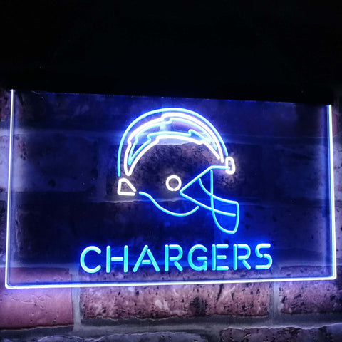 Los Angeles Chargers Football Bar Decor Dual Color Led Neon Sign st6-b2056