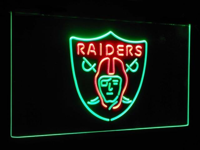 Oakland Raiders Football Bar Decoration Gift Dual Color Led Neon Sign st6-b2053