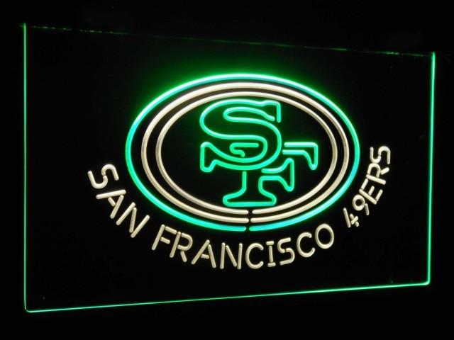 San Francisco 49ers Football Bar Decor Dual Color Led Neon Sign st6-b2057