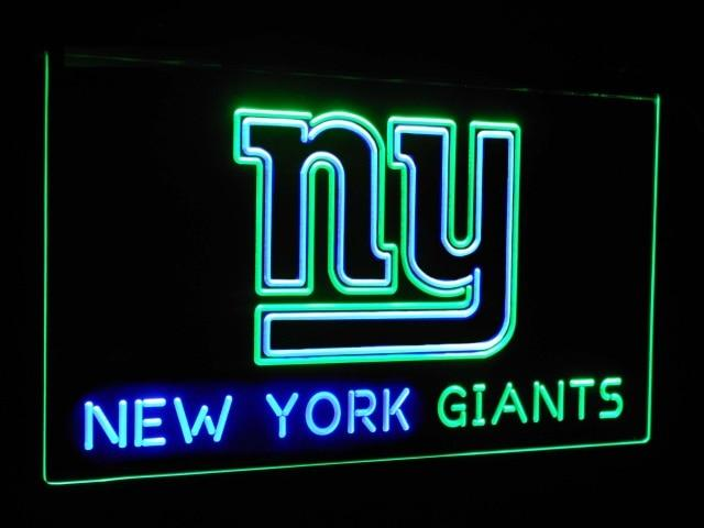 New York Giants Football Bar Decoration Gift Dual Color Led Neon Sign st6-b2051