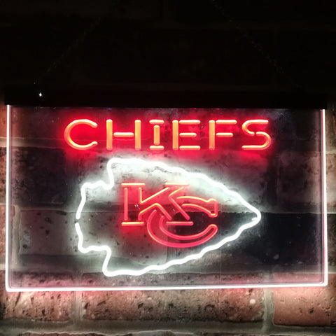 Kansas City Chiefs Football Bar Decor Dual Color Led Neon Sign st6-b2046