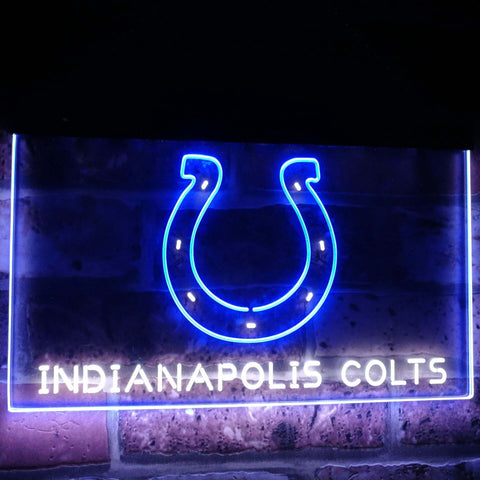 Indianapolis Colts Football Bar Decor Dual Color Led Neon Sign st6-b2044