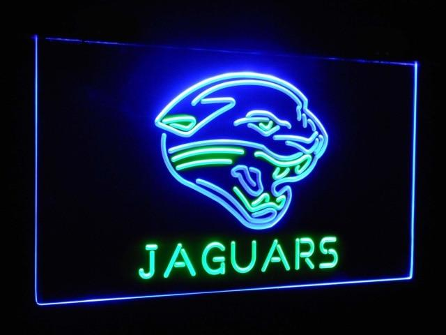 Jacksonville Jaguars Football Bar Decor Dual Color Led Neon Sign st6-b2045